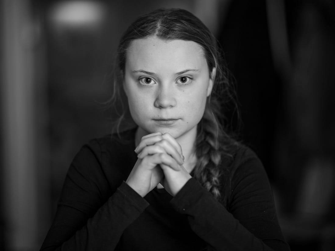Greta Thunberg, jeune militante contre le changement climatique