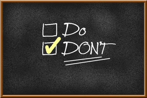 Blogging faux-pas : 3 choses à ne pas faire