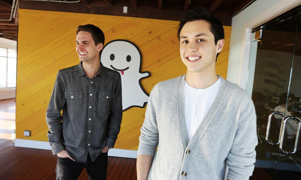 Evan Spiegel et Bobby Murphy, cofondateurs de Snapchat, classés parmi les 10 plus jeunes milliardaires au monde !